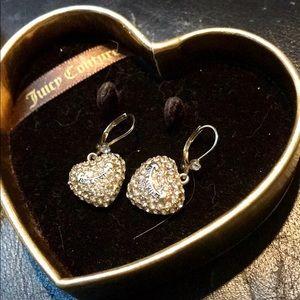 Juicy Couture drop hinge earrings hearts